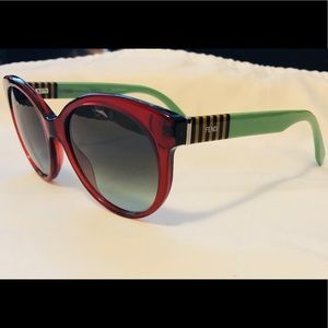 New FENDI 0013/S Burgundy Sunglasses Made in Italy
